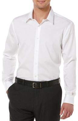 Perry Ellis Big and Tall Non-Iron Cotton Button-Down Shirt