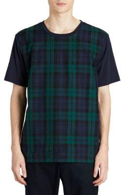 Burberry Plaid Cotton Tee