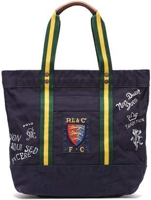 Polo Ralph Lauren Crest cotton-canvas tote bag
