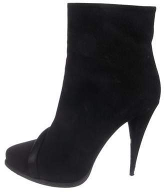 Givenchy Suede Pointed-Toe Ankle Boots Black Suede Pointed-Toe Ankle Boots