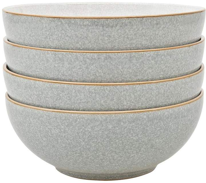 Elements 4-piece Cereal Bowl Set – Light Grey