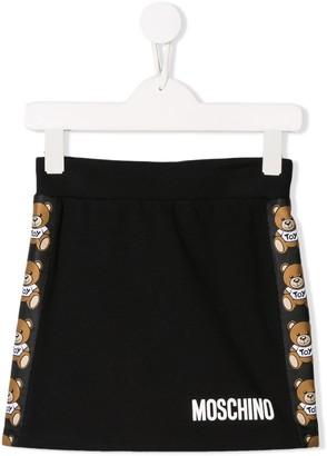 Moschino Kids teddy print skirt