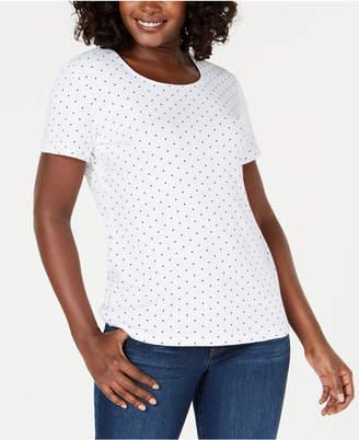 Karen Scott Scoop-Neck T-Shirt