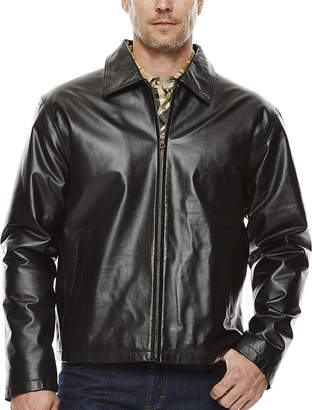 Asstd National Brand Vintage Leather Straight-Bottom Nappa Leather Jacket