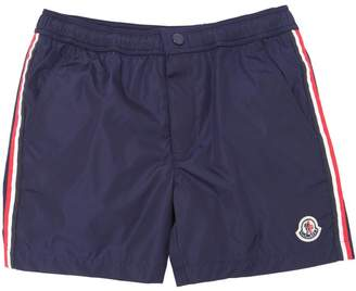 Moncler Nylon Swim Shorts With Side Bands