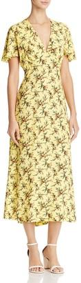 Sandro Enis Printed Midi Dress