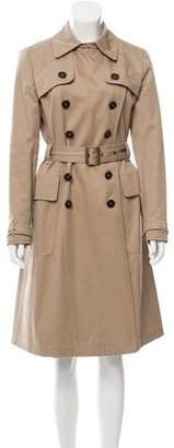 Mulberry Double-Breasted Trench Coat $345 thestylecure.com