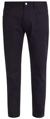 Raf Simons Christiane F.-print patch mid-rise jeans