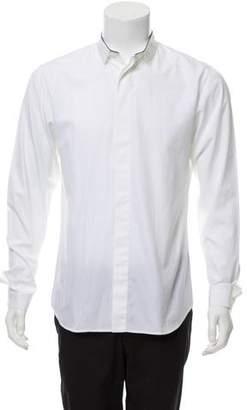 Christian Dior Contrast Trim Button-Up Shirt