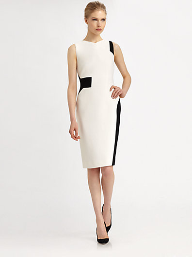 Antonio Berardi Wool Geometric Dress