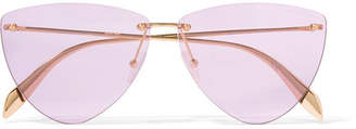 Alexander McQueen Aviator-style Gold-tone Sunglasses - Purple