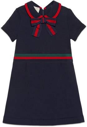Gucci Bow Cotton Jersey Dress