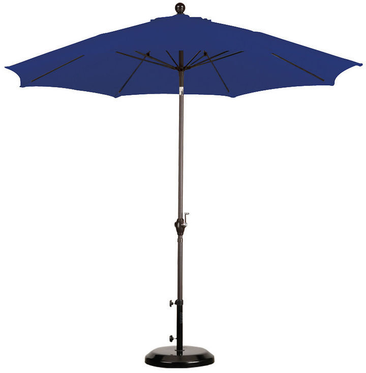 One Kings Lane 9' Market Umbrella, Navy Blue