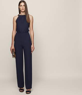 Reiss Lolita Backless Bow-Detail Jumpsuit