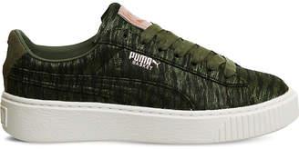 Puma Basket Platform velvet trainers