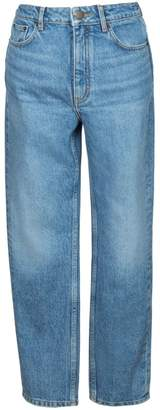 Maje Pario Cropped Ankle Straight Jeans