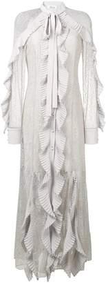 Blumarine ruffle lace dress