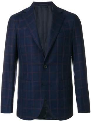Caruso checked print jacket