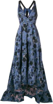 Erdem long embroidered floral dress