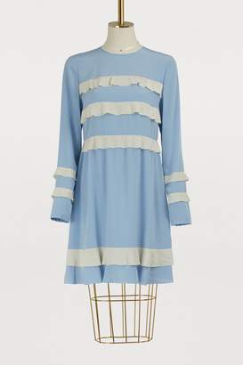 RED Valentino Robe courte en crepe de chine