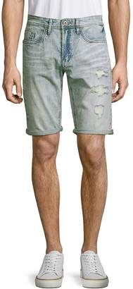 Buffalo David Bitton Men's Evan Distressed Denim Shorts