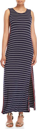 Max Studio Striped Jersey Maxi Tank Dress