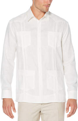 Cubavera Slim Fit 100% Linen Long Sleeve 4 Pocket Guayabera