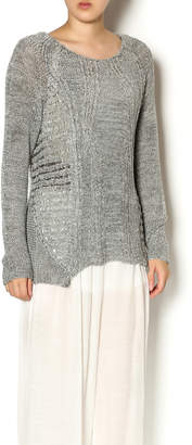 Katherine Barclay Gray Knit Sweater