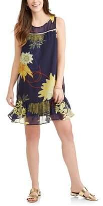 Allison Brittney Women's Floral Ruffle H