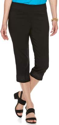 Dana Buchman Women's Millennium Embroidered Capri Pants