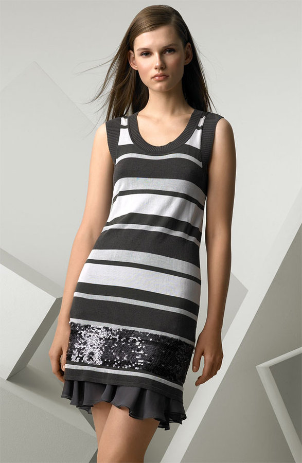 Iisli Sequin Stripe Dress