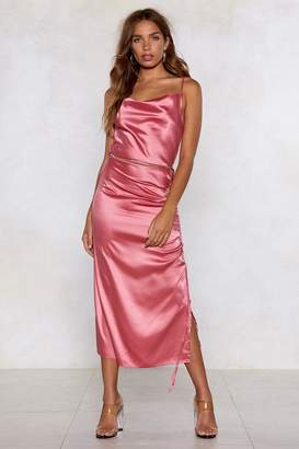 Nasty Gal Dance With Me Satin Dress