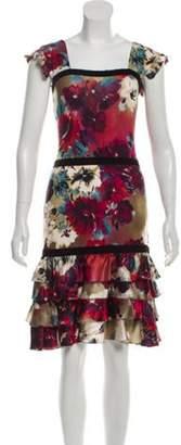 Mariella Burani Printed Mini Dress Red Printed Mini Dress