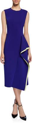 Jason Wu Collection Compact Crepe Cascading Midi Dress
