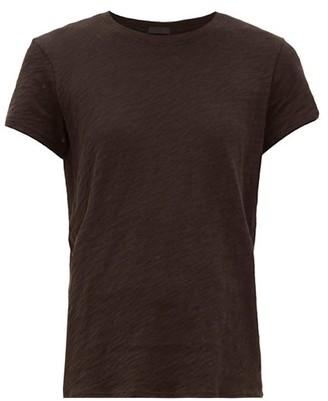 Atm - Schoolboy Cotton Slub Jersey T Shirt - Womens - Black