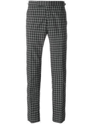 Thom Browne cropped plaid trousers