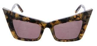 Alexander Wang x Linda Farrow Tortoiseshell Cat-Eye Sunglasses