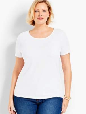 Talbots Pima Cotton Tie-Back Tee