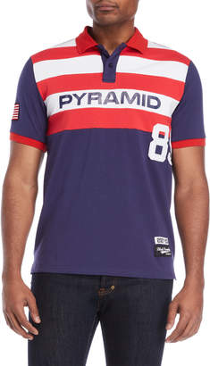 Black Pyramid Navy 89 Stripe Polo