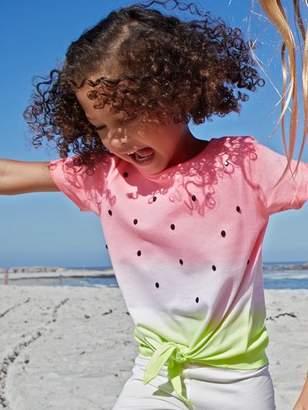 M&Co Watermelon tie front t-shirt