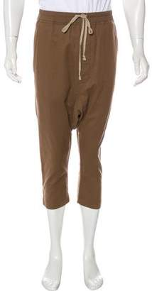Rick Owens Wool-Blend Drop-Crotch Cropped Pants