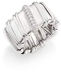 Roberto Coin Women's Nabucco Diamond & 18K White Gold Ring