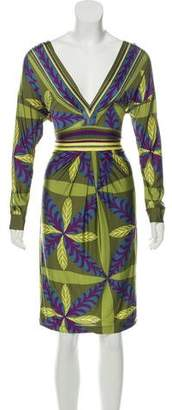 Philosophy di Alberta Ferretti Printed Knee-Length Dress