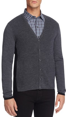 Zachary Prell Merino Wool Color Block Cardigan Sweater $245 thestylecure.com
