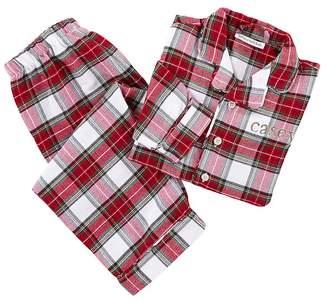 Pottery Barn Kids Morgan Plaid Flannel Pajama, 2T