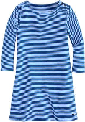 Vineyard Vines Girls Fine Line Stripe Tisbury Dress