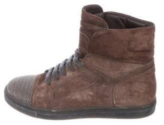 Brunello Cucinelli Monili Suede Sneakers