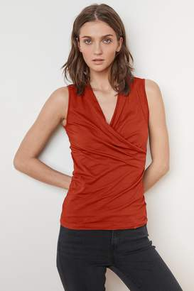Velvet by Graham & Spencer ADELISE GAUZY WHISPER FITTED WRAP TANK