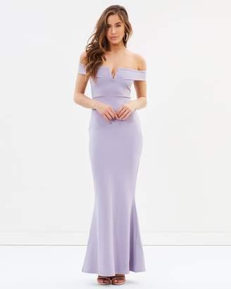 Missguided Bardot Crepe Plunge Maxi Dress
