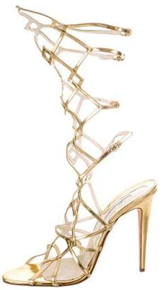 72a28f21610 Pre-Owned at TheRealReal · Brian Atwood Metallic Gladiator Heels